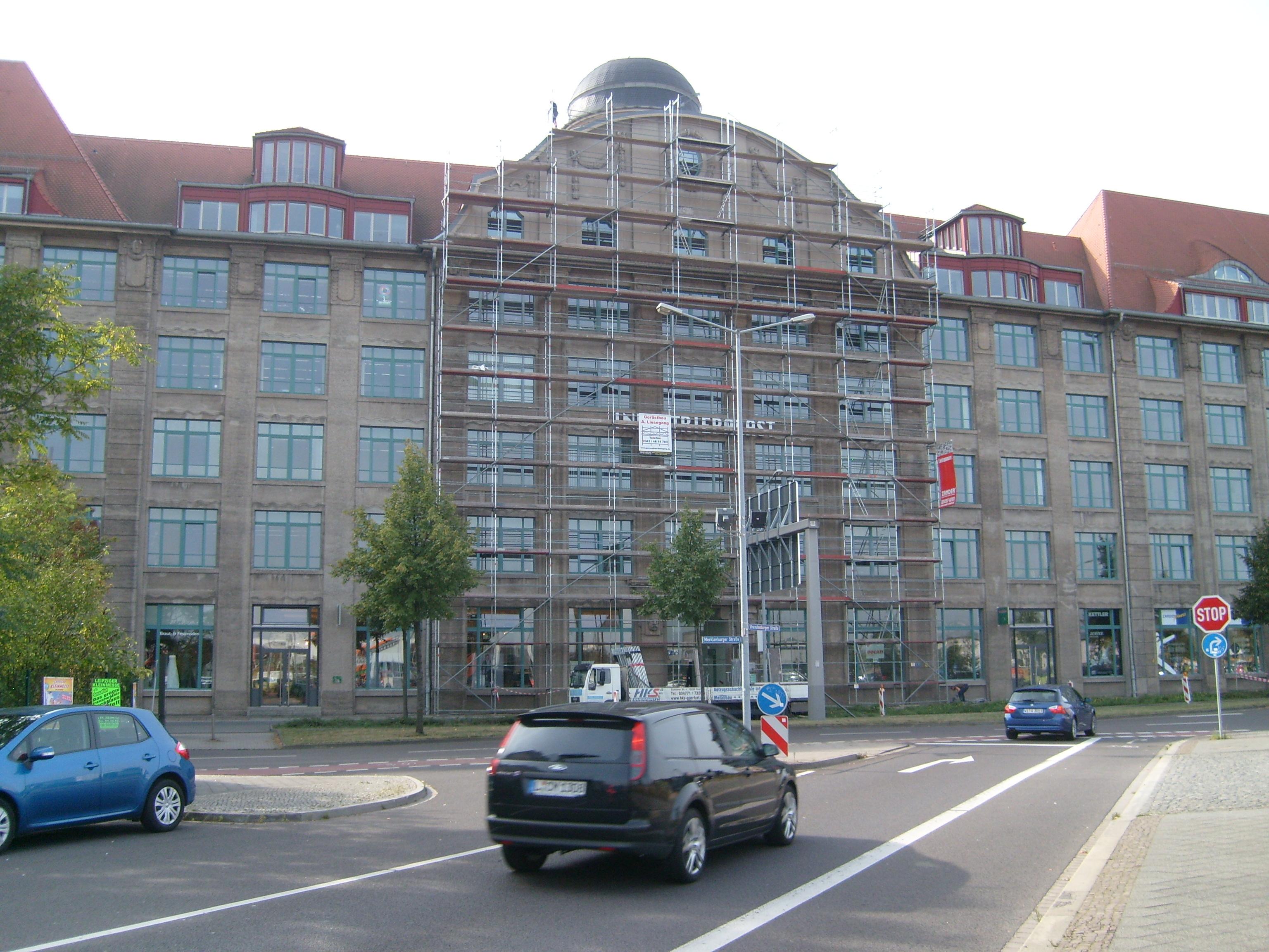 Fassadengerüst Industriepalas_Leipzig
